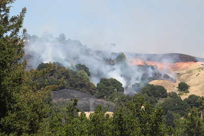 Wildfire in hills above Ivy Drive, Orinda, CA