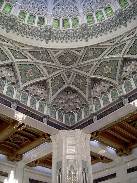 Grand Mosque details, Muscat, Oman