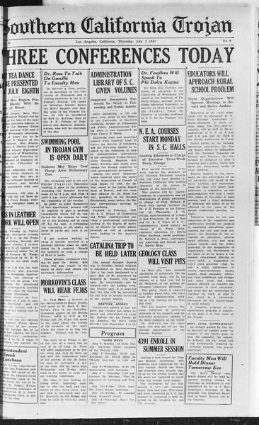 Southern California Trojan, Vol. 10, No. 4, July 02, 1931