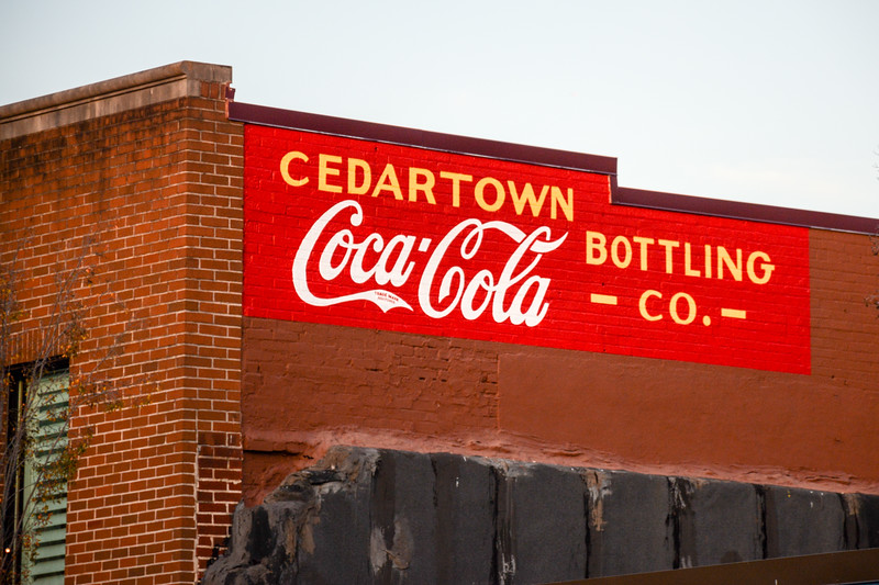 GA, Cedartown - Coca-Cola Wall Sign 02