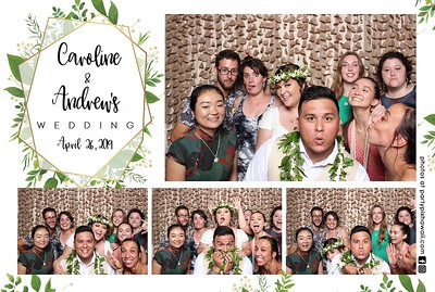 Caroline & Andrew's Wedding (Mini Open Air Photo Booth 2)