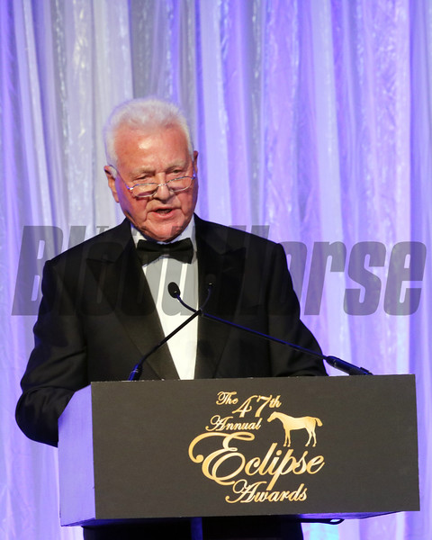 Frank Stronach accepts the 2017 Eclipse Merit Award  2018 , Gulfstream Park