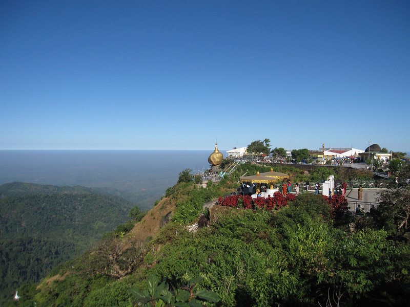 Mount Kyaiktiyo, the Golden Rock, in Burma.