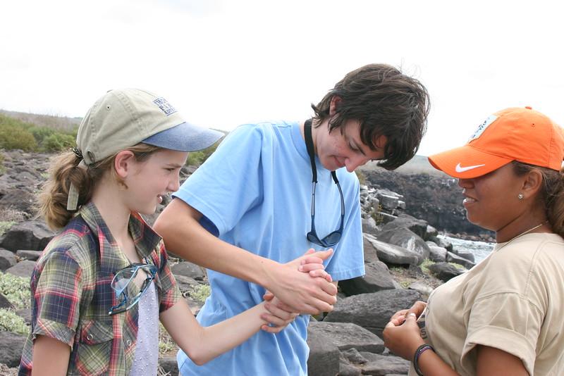 2007-02-19-0038-Galapagos with Hahns-Day 3, Espanola-Elaine-Evan-Jessica.JPG
