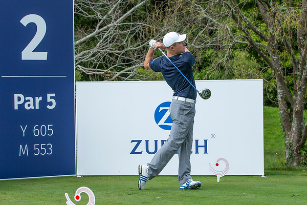 Charlie Hillier (NZ) teeing off on Practice Day 1 of the Asia-Pacific Amateur Championship tournament 2017 held at Royal Wellington Golf Club, in Heretaunga, Upper Hutt, New Zealand from 26 - 29 October 2017. Copyright John Mathews 2017.   www.megasportmedia.co.nz