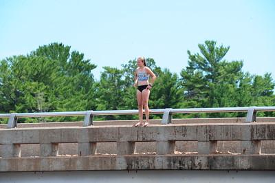 Jumping the Bridge at AuTrain, Michigan 2020