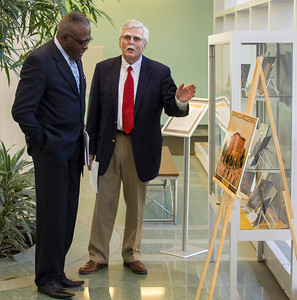 Science Library - President Jones Tours Archives Exhibit