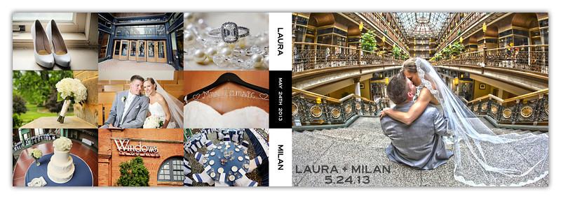 Laura & Milan 8x12 Flush Mount Album