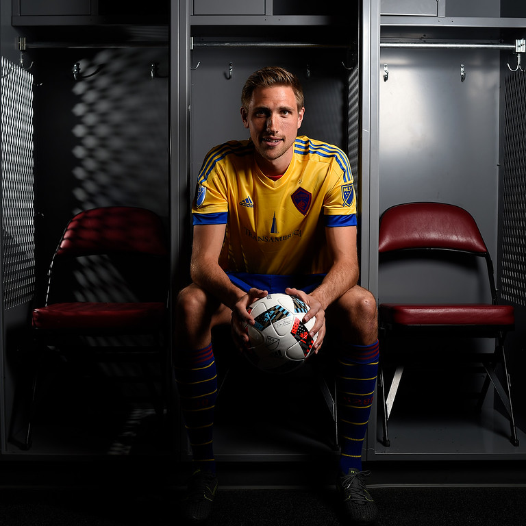 . COMMERCE CITY, CO - FEBRUARY 11: Alex Sjoberg poses for a portrait during Colorado Rapids media day on Thursday, February 11, 2016. (Photo by AAron Ontiveroz/The Denver Post)