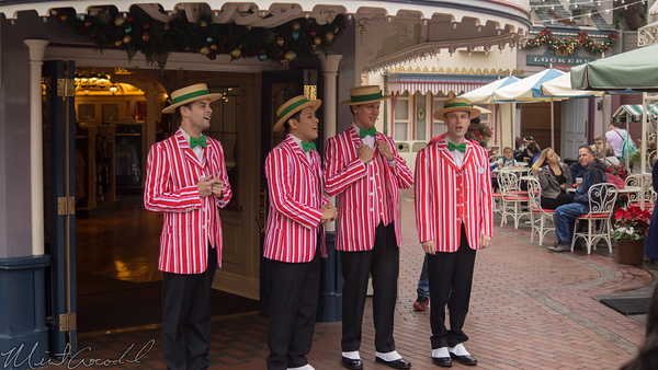 Disneyland Resort, Disneyland, Main Street USA, Christmas, Dapper Dans, Dapper, Dans, Dan