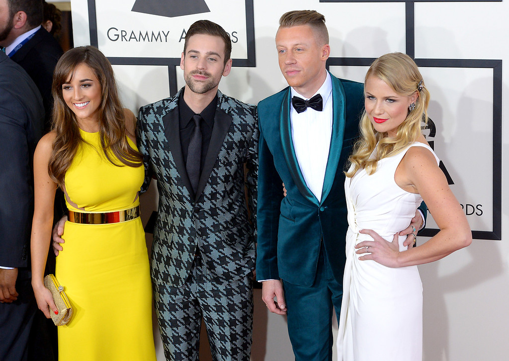 . Ryan Lewis and Macklemore arrive at the 56th Annual GRAMMY Awards at Staples Center in Los Angeles, California on Sunday January 26, 2014 (Photo by David Crane / Los Angeles Daily News)