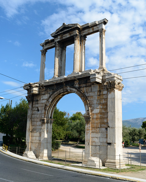 2017 10 06b Athens Arch of Hadrian Street Scenes