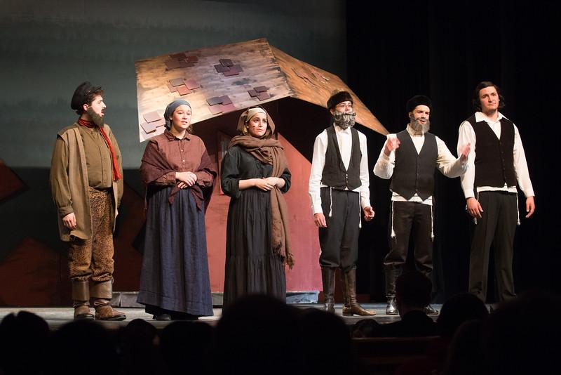 "Tevye, Golde, Yente,  Avram, Lazar Wolf, and Mendel -- ""Anatevka"" -- Fiddler on the Roof, Montgomery Blair High School, April 24, 2015"