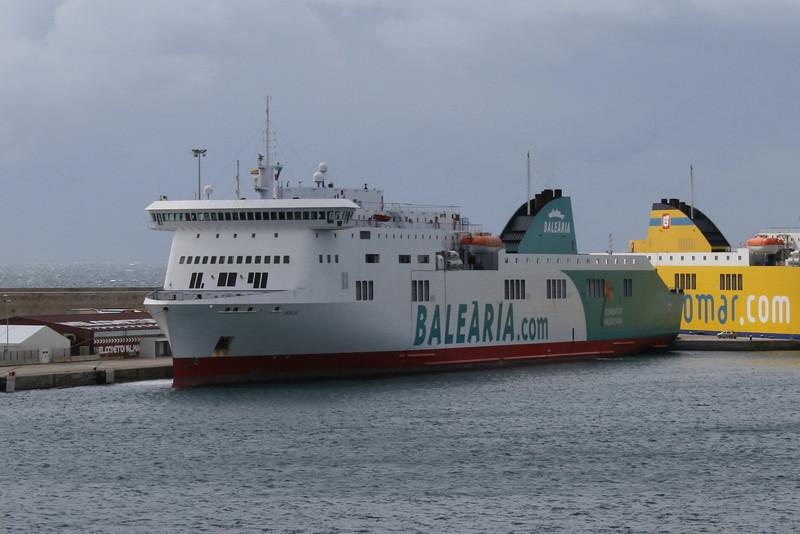 F/B BORJA moored in Palma de Mallorca.
