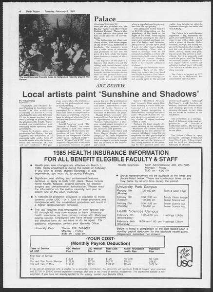 Daily Trojan, Vol. 98, No. 18, February 05, 1985