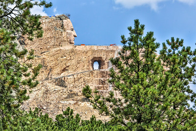 Crazy Horse and Mount Rushmore