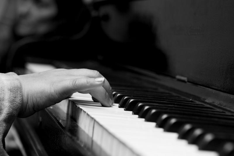 Yelena playing the piano.