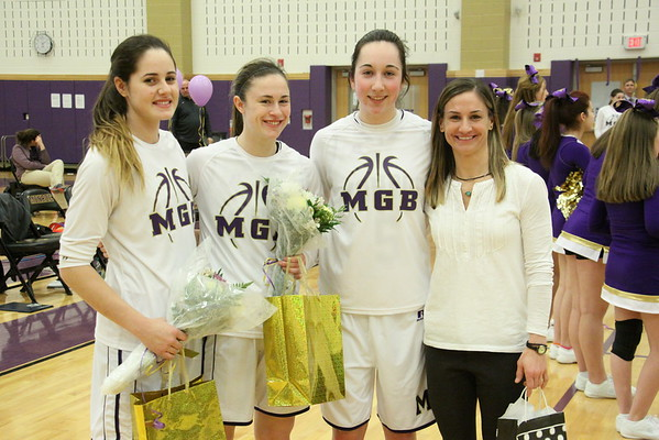 Girls Basketball Sr. Night Feb 3 ,2015 vs Colonia.