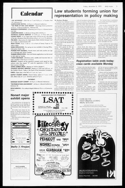 Daily Trojan, Vol. 65, No. 53, December 08, 1972