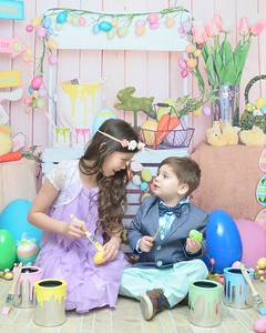 Gia and Nicolas Easter 2020