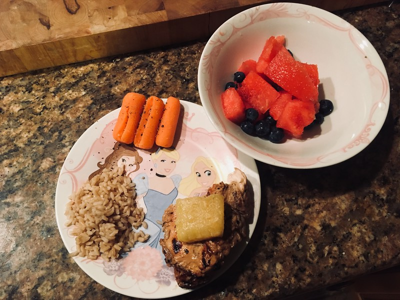 Eric Ostimchuk - Using his daughter's princess plate for portion control!