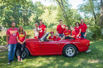 Simpson Family Rocks the Red