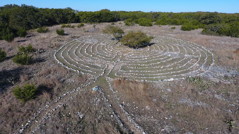 Labyrinth at the top of the hill