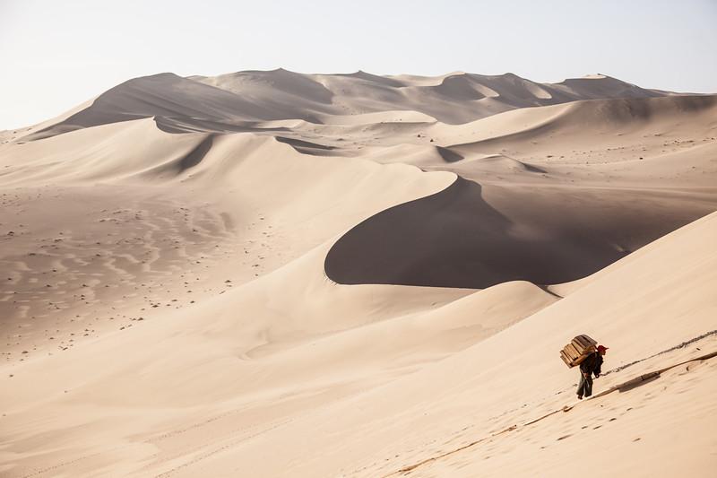 Singing Sands Mountains near Dunhuang, Gansu, China.