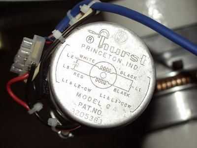 Declination motor close-up