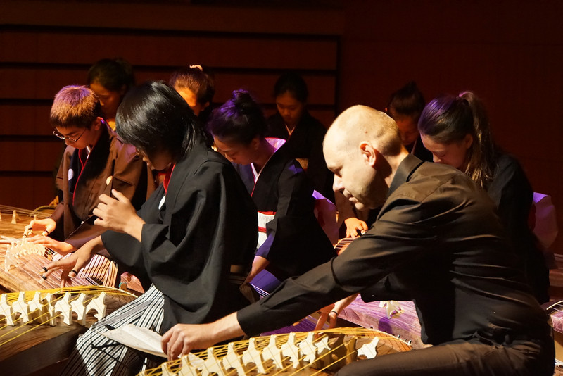 The Middle School koto ensemble opened the conference. The students played beautifully and there were many appreciative comments from the visitors.