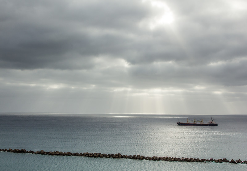 Ship off Las Palmas