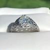 1.11ct Old European Cut Diamond Filigree Ring 0