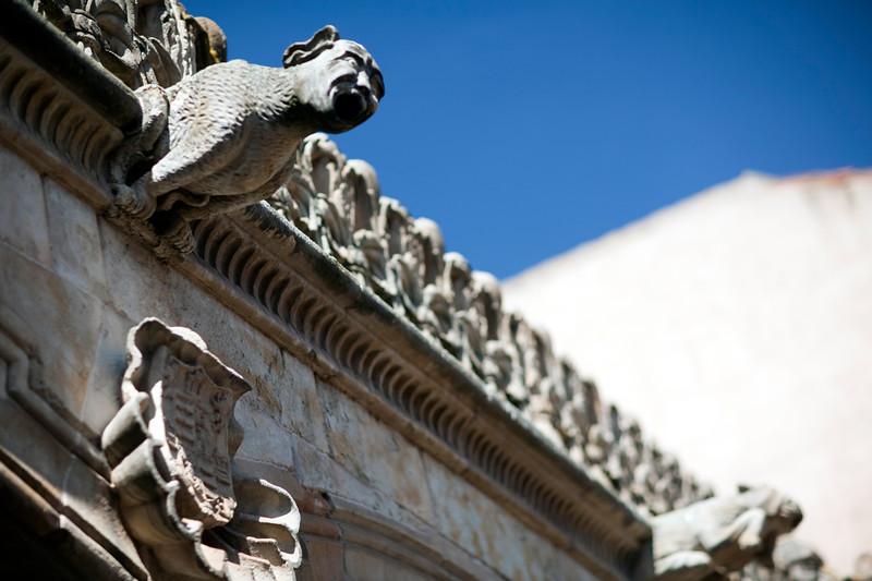 Gargoyle, House of the Shells, town of Salamanca, autonomous community of Castilla and Leon, Spain