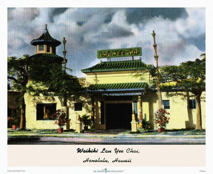 190: 'Waikiki Lau Yee Chai Temple' Postcard, ca 1932.