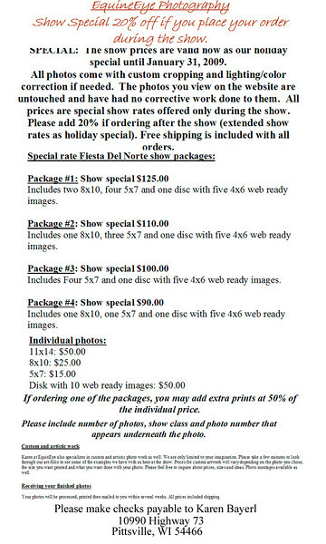 Fiesta Photo Prices and Packages