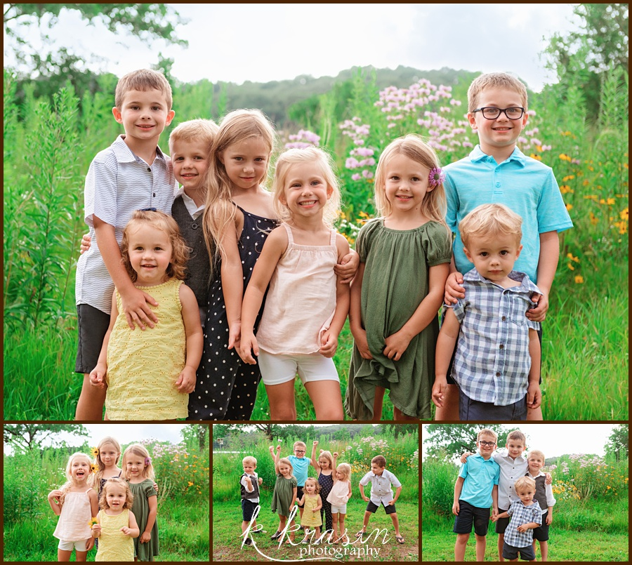 Collage of photos of all the grandkids