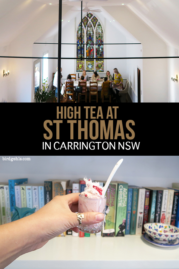 Ever wanted to have a high tea in a church? Head to St Thomas in Carrington to sip tea and snack on delicious food in a stunning setting. / Best High Teas Newcastle / #Australia / #NSW / New South Wales / Hens Party Ideas /