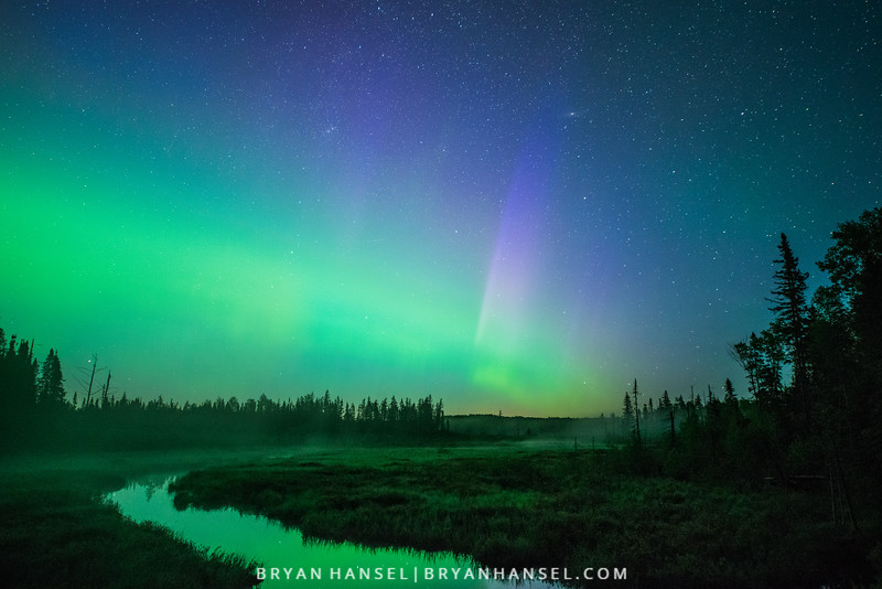 Northern Lights over Mud Creek