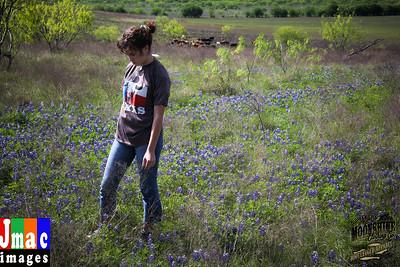 Katie in the Bluebonnets