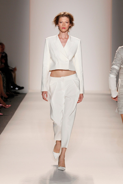 . In this photo provided by Rachel Zoe, the Rachel Zoe Spring 2014 collection is modeled during Fashion Week, Wednesday, Sept. 11, 2013, in New York. (AP Photo/Rachel Zoe)