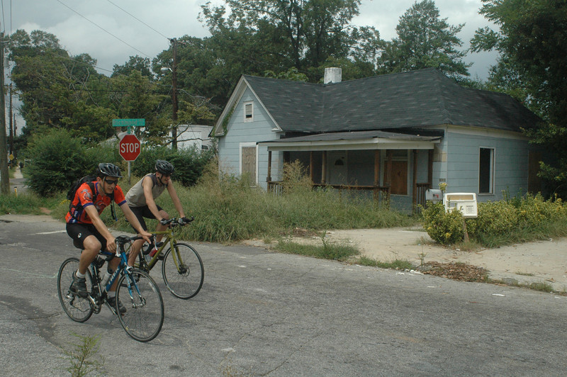 09 08-02 Riding through some run down neighborhoods in Atlanta. JM