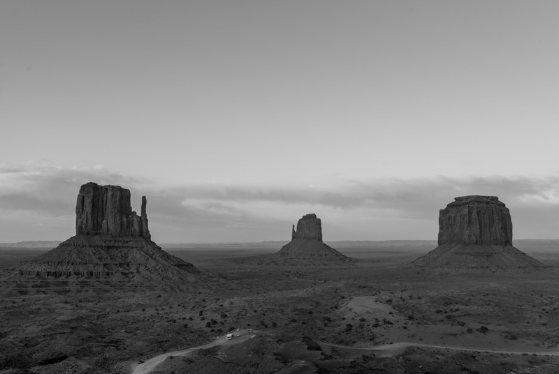 Monument Valley panorama taken from the Visitor Center in Utah