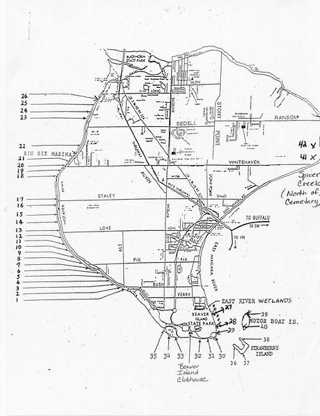Beaver Island State Park (Waterfowl Blind Locator Map)