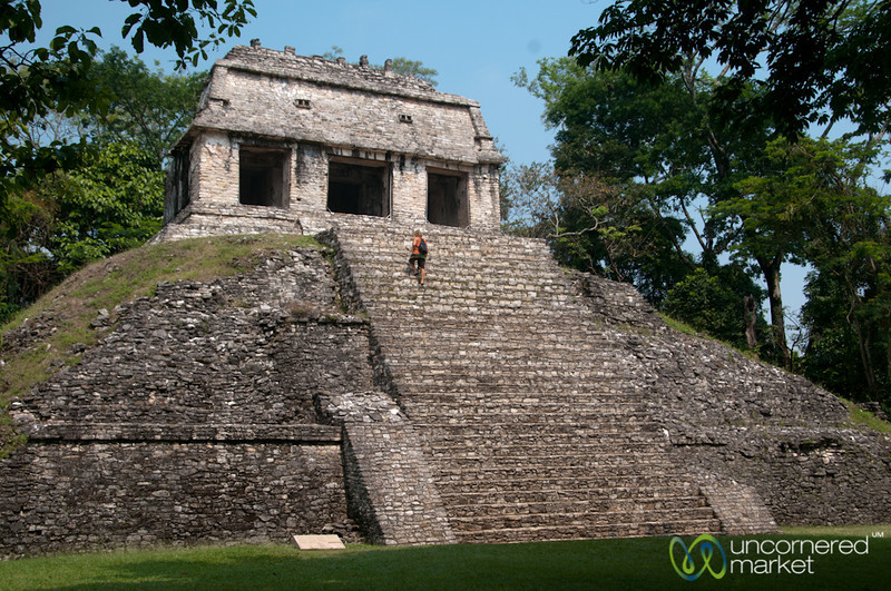 Palenque Mayan Ruins, Temple of the Court - Chiapas, Mexico