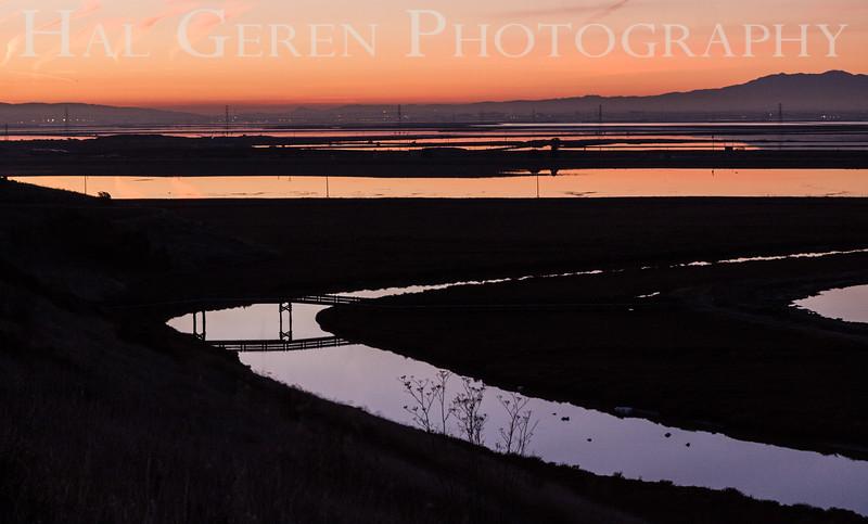 Sunrise on the Slough Don Edwards National Wildlife Refuge, Fremont, California 1401R-S1
