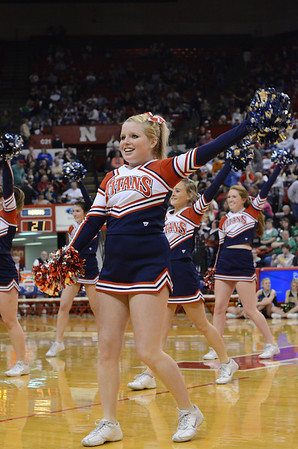 Cheerleaders - Boys State BB-Gretna