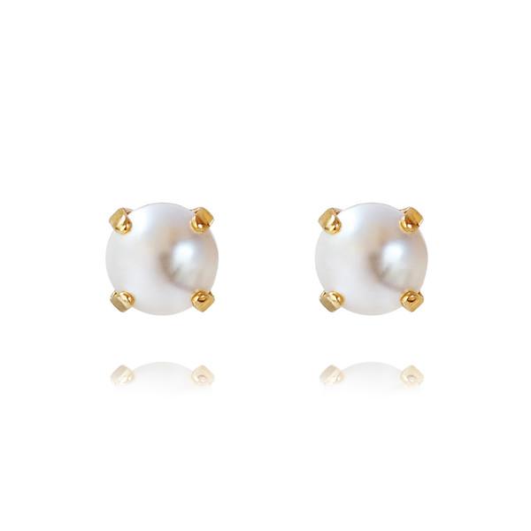 Classic Stud Earrings / Pearl Gold