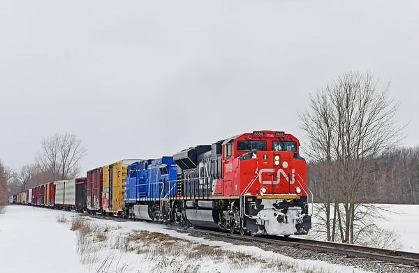Canadian National 324, Noyan, Quebec, February 25 2019.
