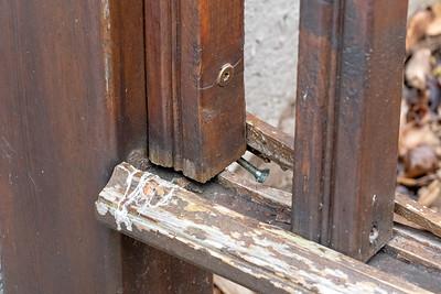 2021 04 13: Home, Railing Repair, Back Door