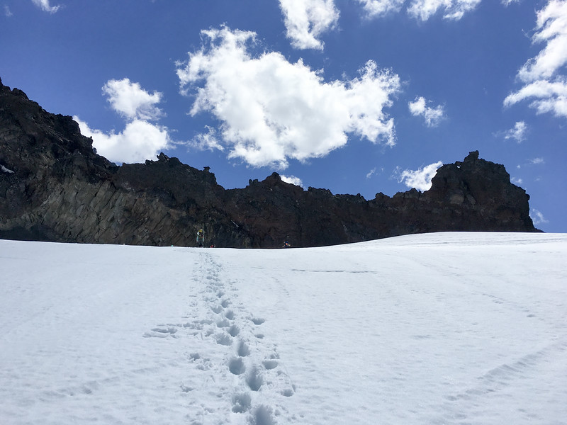 Ascending toward camp